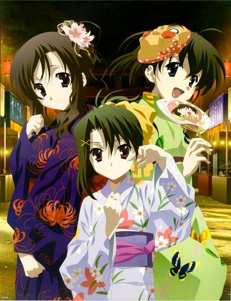 Tags: Anime, School Days, Saionji Sekai, Kiyoura Setsuna, Katsura Kotonoha, Magazine (Source), Scan, Official Art