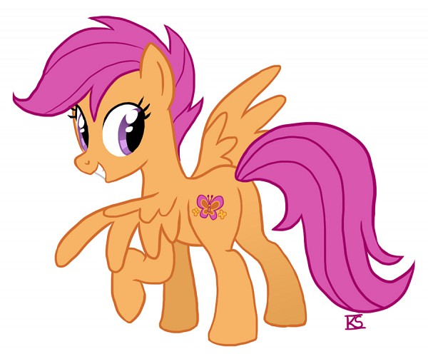 Tags: Anime, Glamourkat, My Little Pony, Scootaloo, Mark, Cutie Mark, deviantART, Fanart From DeviantART, Fanart