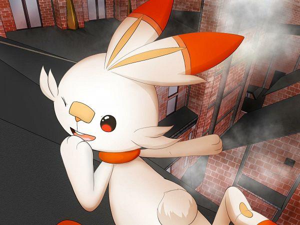 Tags: Anime, Pixiv Id 13068753, Pokémon Sword & Shield, Pokémon, Scorbunny, Pixiv, Wallpaper, Fanart, Fanart From Pixiv