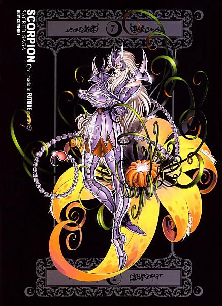 Tags: Anime, Future Studio, Saint Seiya, Sacred Saga, Scorpio Milo, Mobile Wallpaper