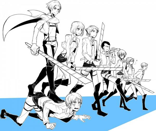 Tags: Anime, Pixiv Id 727370, Attack on Titan, Levi Ackerman, Gunter Schulz, Hange Zoë, Mikasa Ackerman, Auruo Bossard, Armin Arlert, Erd Gin, Petra Ral, Eren Jaeger, PSYCHO-PASS (Parody)