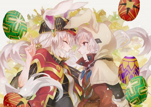 Tags: Anime, Pixiv Id 16330626, Sdorica -sunset-, Ryu (Sdorica), Leah (Sdorica), Fanart From Pixiv, Pixiv, Fanart