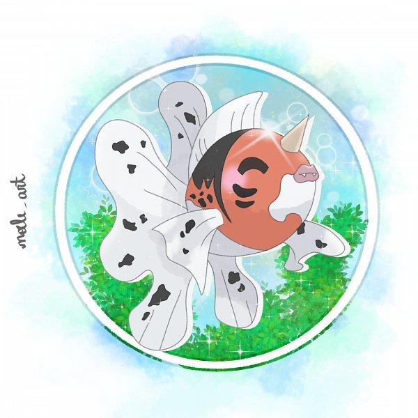 Tags: Anime, Noele Art, Pokémon Red & Green, Pokémon, Seaking, deviantART, Self Made, Fanart From DeviantART, Fanart