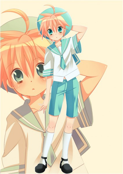 Tags: Anime, Natsuiro Classic, Axis Powers: Hetalia, VOCALOID, Kagamine Len, Sealand, Pixiv