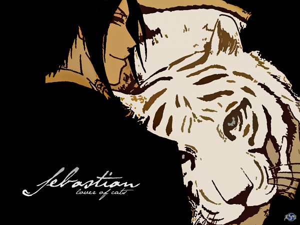 Tags: Anime, Kuroshitsuji, Sebastian Michaelis, Wallpaper, Fanmade Wallpaper, Edited