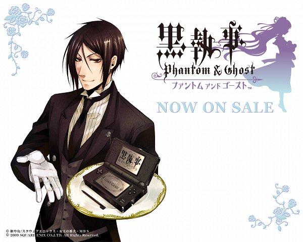 Tags: Anime, Toboso Yana, Kuroshitsuji, Kuroshitsuji: Phantom & Ghost, Sebastian Michaelis, Wallpaper, Official Art, Official Wallpaper