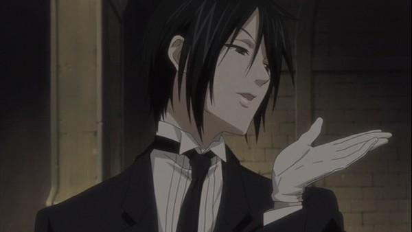 Tags: Anime, Kuroshitsuji, Sebastian Michaelis, Blowing A Kiss, Screenshot, Facebook Cover, Small Screenshot