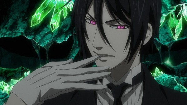 Tags: Anime, Kuroshitsuji, Sebastian Michaelis, Biting Gloves, Screenshot