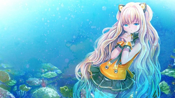 Tags: Anime, MayoRiyo, VOCALOID, SeeU, Traditional Media, HD Wallpaper, Wallpaper, Watercolor