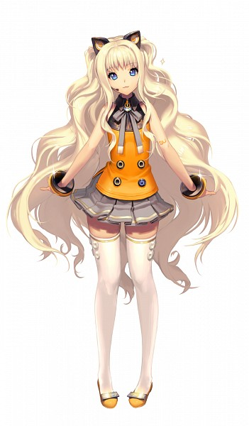Tags: Anime, KKUEM, VOCALOID, SeeU, Gray Neckwear, Yellow Footwear, Gray Skirt, Gray Ribbon, PNG Conversion, Official Art, Mobile Wallpaper, Replacement, Cover Image
