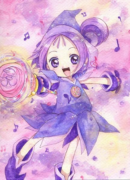Tags: Anime, Pixiv Id 1923690, Ojamajo DoReMi, Segawa Onpu, Kururu Poron, Purple Handwear, Purple Hat, Purple Headwear, Purple Gloves, Dream Spinner, Pixiv, Fanart From Pixiv, Fanart