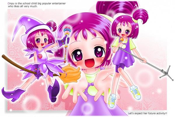 Tags: Anime, Yajin (Artist), Ojamajo DoReMi, Segawa Onpu, Dream Spinner, Kururu Poron, Fanart