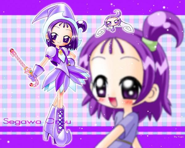 Tags: Anime, Yajin (Artist), Ojamajo DoReMi, Segawa Onpu, RoRo (Ojamajo DoReMi), Parara Tap, Sweet Poron, Fanart, Wallpaper