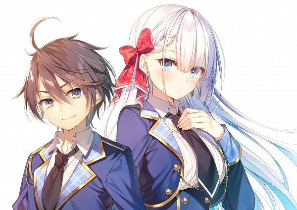 Tags: Anime, Toosaka Asagi, Seiken Gakuin no Maken Tsukai, Lyseria Christaria, Official Art, Novel Illustration