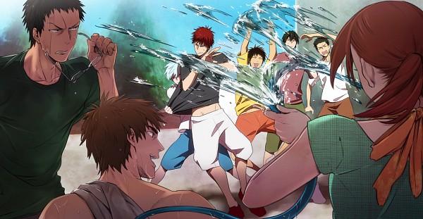 Tags: Anime, Tei (Pixiv 1366375), Kuroko no Basuke, Koganei Shinji, Mitobe Rinnosuke, Aida Riko, Hyuuga Junpei, Kiyoshi Teppei, Kagami Taiga, Tsuchida Satoshi, Kuroko Tetsuya, Pixiv, Facebook Cover