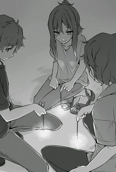 Tags: Anime, Mizoguchi Keiji, Seishun Buta Yarou Series, Futaba Rio, Azusagawa Sakuta, Novel Illustration, Official Art
