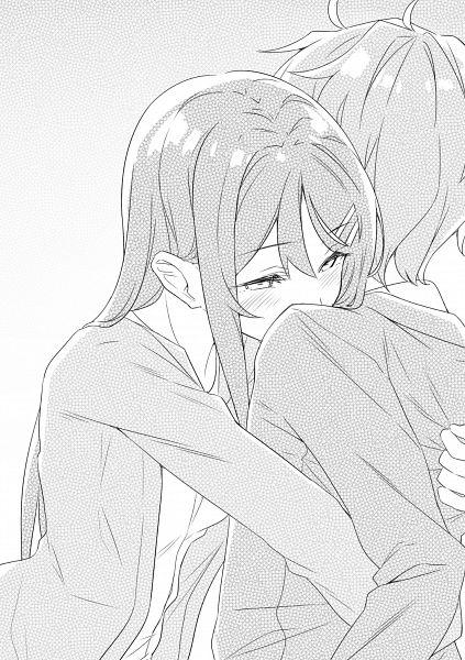 Tags: Anime, Mizoguchi Keiji, Seishun Buta Yarou Series, Azusagawa Sakuta, Sakurajima Mai, Novel Illustration, Official Art