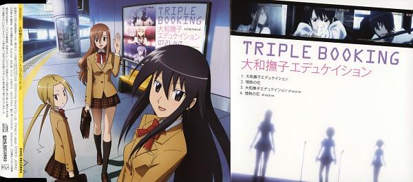 Tags: Anime, Furuta Makoto, GoHands, Seitokai Yakuindomo, Shichijou Aria, Hagimura Suzu, Amakusa Shino, Scan, CD (Source), Official Art, Student Council Staff Members