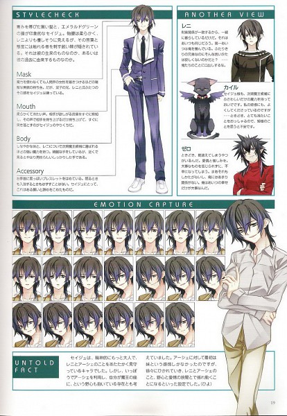 Tags: Anime, Toujou Sakana, Under the Moon, Seizh, Character Sheet