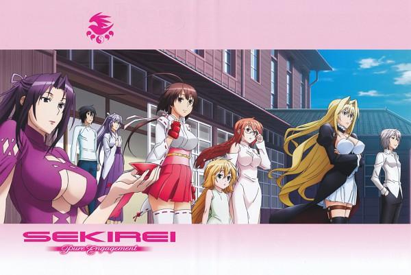 Tags: Anime, Sekirei, Kusano (Sekirei), Matsu (Sekirei), Sahashi Minato, Kazehana, Homura (Sekirei), Tsukiumi (Sekirei), Asama Miya, Musubi (Sekirei), Harem, Official Art