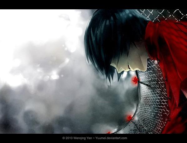 Tags: Anime, Wenqing Yan, Knite, Sen (Knite), Pinwheel, Chain Link Fence, deviantART