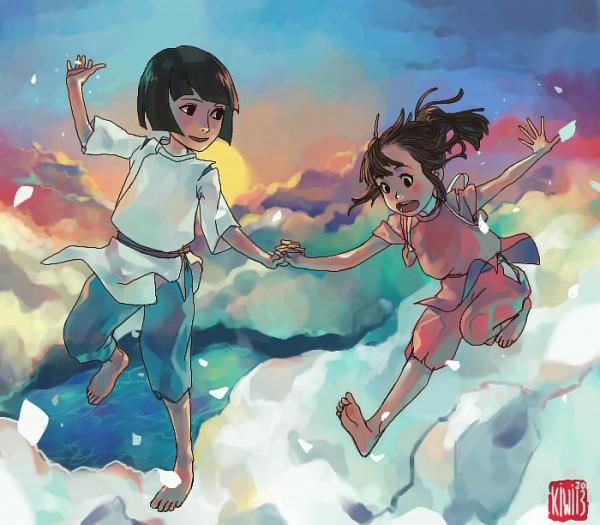 Tags: Anime, 0kiwi0, Sen to Chihiro no Kamikakushi, Ogino Chihiro, Haku (Sen to Chihiro no Kamikakushi), deviantART, Spirited Away