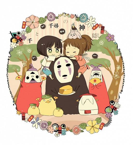 Tags: Anime, Youichi (Bread1104), Studio Ghibli, Sen to Chihiro no Kamikakushi, Chicken Spirit, Boh, Radish Spirit, Susuwatari, Kaonashi, Haku (Sen to Chihiro no Kamikakushi), River Spirit, Ogino Chihiro, Cheese, Spirited Away