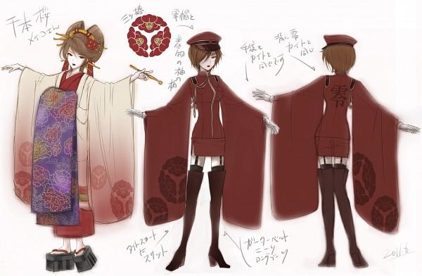 Tags: Anime, Itto Maru, VOCALOID, MEIKO (VOCALOID), Yuujo, Oiran, Character Sheet, Project DIVA Rei no Sakura: Camellia, Senbonzakura (Song), Thousand Cherry Blossoms