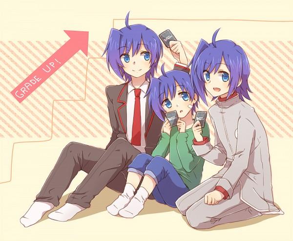 Tags: Anime, Tani (Pixiv 446857), Link Joker Hen, Cardfight!! Vanguard, Sendou Aichi, School Uniform (Hitsue Middle School), School Uniform (Miyaji Academy), Pixiv, Fanart