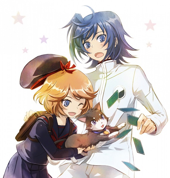 Tags: Anime, Uturautouto, Cardfight!! Vanguard, Sendou Emi, Sendou Aichi, Tenchou Dairi, Randoseru, Pixiv, Sendou Siblings