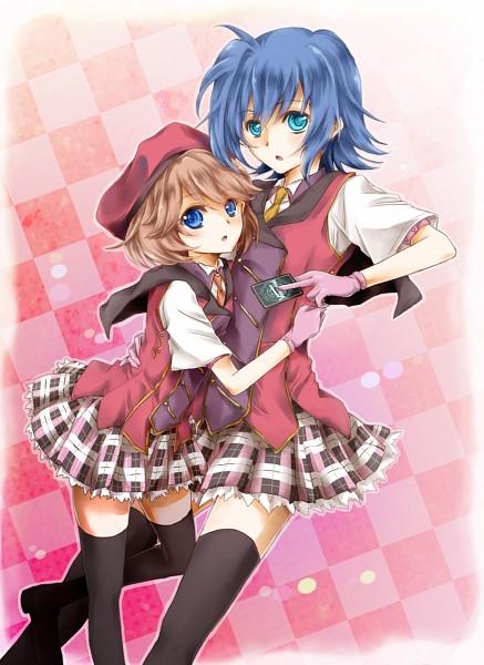 Tags: Anime, Sahara (Charlotte), Cardfight!! Vanguard, Sendou Emi, Sendou Aichi, Blazer Pleasures (Cosplay), Ride (Cardfight!!), Fanart, Pixiv, Sendou Siblings