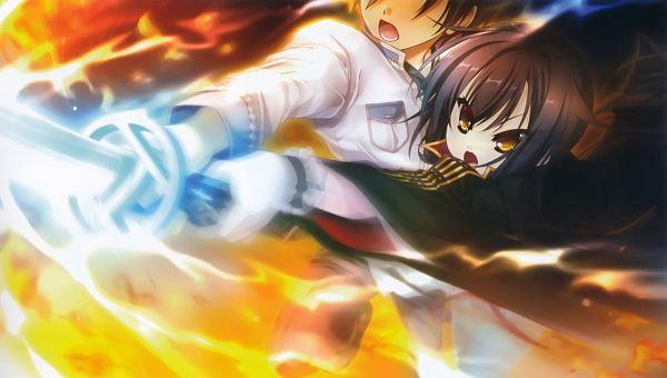 Tags: Anime, Katagiri Hinata, BaseSon, Sengoku†Koihime, Kensuke (Sengoku†Koihime), Oda Saburo Kuon Nobunaga, Wallpaper, Official Art, Scan