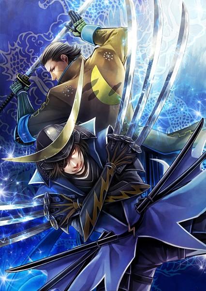 Tags: Anime, Pixiv Id 3341127, Sengoku Basara, Katakura Kojuurou (Sengoku Basara), Date Masamune (Sengoku Basara), Fanart From Pixiv, Fanart, Pixiv, Mobile Wallpaper, Devil Kings