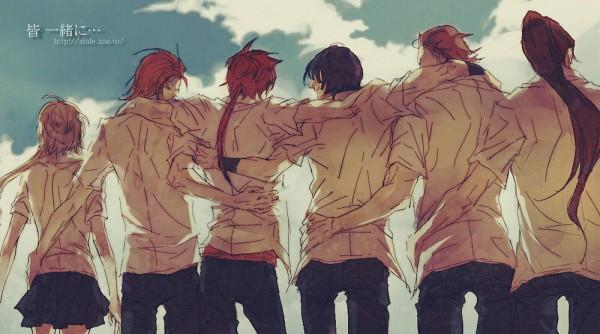 Tags: Anime, Sengoku Basara, Kasuga, Sanada Yukimura (Sengoku Basara), Sarutobi Sasuke, Date Masamune (Sengoku Basara), Maeda Keiji (Sengoku Basara), Katakura Kojuurou (Sengoku Basara), Facebook Cover, Devil Kings