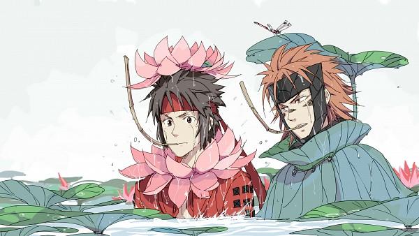 Tags: Anime, Rinkai (Pixiv1664083), Sengoku Basara, Sanada Yukimura (Sengoku Basara), Sarutobi Sasuke, Lily Pads, Dragonfly, Snorkeling, HD Wallpaper, Wallpaper, Pixiv, Fanart, Fanart From Pixiv, Devil Kings