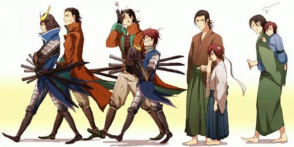 Tags: Anime, Harota, Sengoku Basara, Katakura Kojuurou (Sengoku Basara), Date Masamune (Sengoku Basara), Facepalm, Fanart, Facebook Cover, Pixiv, GIF Conversion, Devil Kings