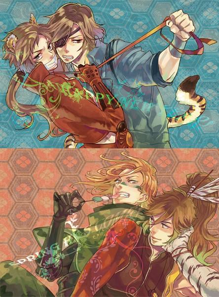 Tags: Anime, Sengoku Basara, Maeda Keiji (Sengoku Basara), Sanada Yukimura (Sengoku Basara), Date Masamune (Sengoku Basara), Sarutobi Sasuke, Devil Kings