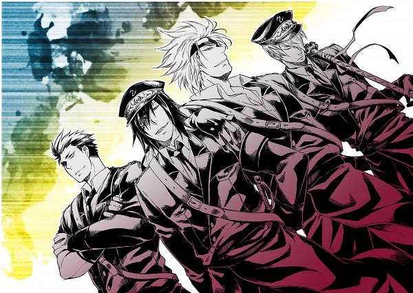 Tags: Anime, Midori Hana, Sengoku Basara, Tokugawa Ieyasu (Sengoku Basara), Motochika Chosokabe (Sengoku Basara), Date Masamune (Sengoku Basara), Ishida Mitsunari (Sengoku Basara), Fanart, Pixiv, Devil Kings