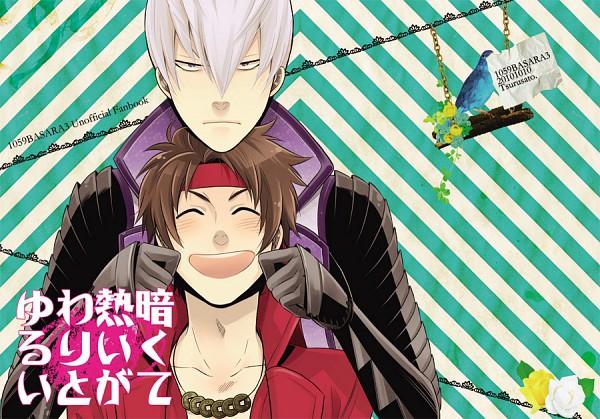 Tags: Anime, Sengoku Basara, Ishida Mitsunari (Sengoku Basara), Sanada Yukimura (Sengoku Basara), Pinching, Fanart, Devil Kings
