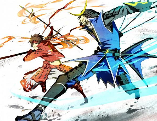 Tags: Anime, Hida Moto, Sengoku Basara, Sanada Yukimura (Sengoku Basara), Date Masamune (Sengoku Basara), Fanart, Pixiv, Devil Kings