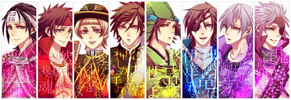 Tags: Anime, Pixiv Id 467675, Sengoku Basara, Date Masamune (Sengoku Basara), Mori Motonari (Sengoku Basara), Maeda Keiji (Sengoku Basara), Motochika Chosokabe (Sengoku Basara), Otomo Sorin (Sengoku Basara), Sanada Yukimura (Sengoku Basara), Ishida Mitsunari (Sengoku Basara), Twitter Header, Devil Kings
