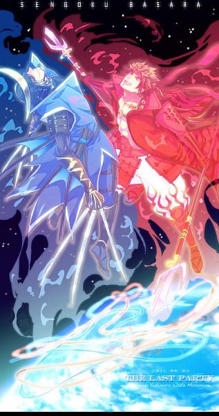 Tags: Anime, Jo (Pixiv 471616), Sengoku Basara, Sanada Yukimura (Sengoku Basara), Date Masamune (Sengoku Basara), Fanart, Pixiv, Devil Kings