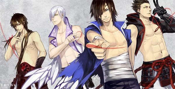 Tags: Anime, Nisoniso, Sengoku Basara, Sanada Yukimura (Sengoku Basara), Date Masamune (Sengoku Basara), Ishida Mitsunari (Sengoku Basara), Tokugawa Ieyasu (Sengoku Basara), Facebook Cover, Fanart, deviantART, Devil Kings