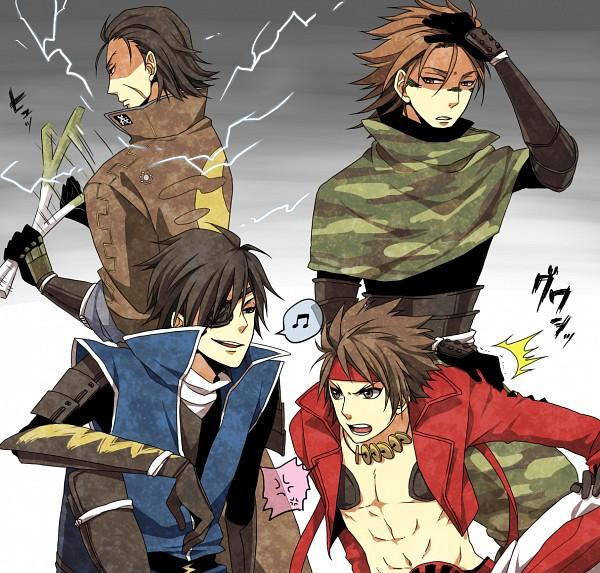 Tags: Anime, Pixiv Id 1034630, Sengoku Basara, Sanada Yukimura (Sengoku Basara), Date Masamune (Sengoku Basara), Sarutobi Sasuke, Katakura Kojuurou (Sengoku Basara), Fanart, Pixiv, Devil Kings