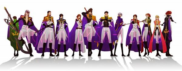 Tags: Anime, Pixiv Id 3181881, CODE GEASS: Hangyaku no Lelouch, Sengoku Basara, Sanada Yukimura (Sengoku Basara), Fuuma Kotarou (Sengoku Basara), Motochika Chosokabe (Sengoku Basara), Date Masamune (Sengoku Basara), Tokugawa Ieyasu (Sengoku Basara), Katakura Kojuurou (Sengoku Basara), Saika Magoichi (Sengoku Basara), Sarutobi Sasuke, Kasuga, Devil Kings