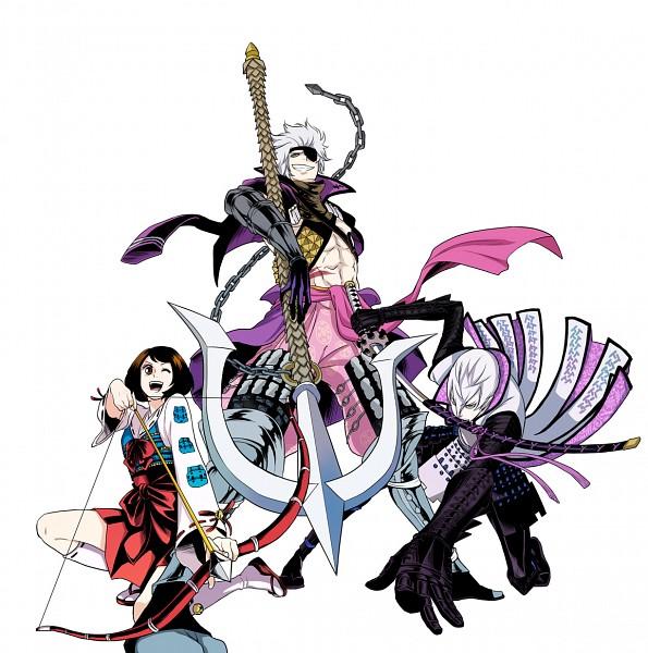 Tags: Anime, Symbols, Sengoku Basara, Tsuruhime, Ishida Mitsunari (Sengoku Basara), Motochika Chosokabe (Sengoku Basara), Devil Kings