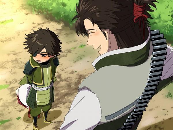 Tags: Anime, Kajihara, Sengoku Musou, Date Masamune (Sengoku Musou), Saika Magoichi (Sengoku Musou), Path, Pixiv, Fanart, Samurai Warriors