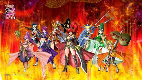 Tags: Anime, Sengoku Otome, Takeda Shingen (Sengoku Otome), Oda Nobunaga (Sengoku Otome), Tokugawa Ieyasu (Sengoku Otome), Akechi Mitsuhide (Sengoku Otome), Uesugi Kenshin (Sengoku Otome), Date Masamune (Sengoku Otome), Imagawa Yoshimoto (Sengoku Otome), Toyotomi Hideyoshi (Sengoku Otome), Broadsword, HD Wallpaper, Wallpaper