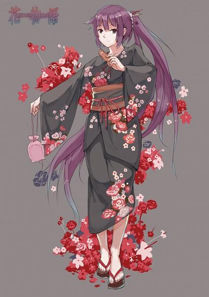 Tags: Anime, Pixiv Id 4386573, Monogatari, Senjougahara Hitagi, Fanart, Mobile Wallpaper