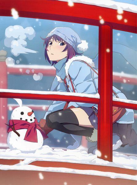 Tags: Anime, Watanabe Akio, Shaft (Studio), Monogatari Series: Second Season, Monogatari, Senjougahara Hitagi, Scan, Official Art, DVD (Source)